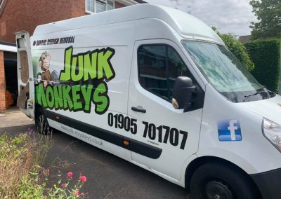 van ready for garden clearance in Worcester