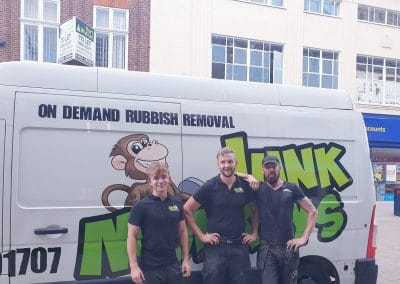 junk monkeys team and van