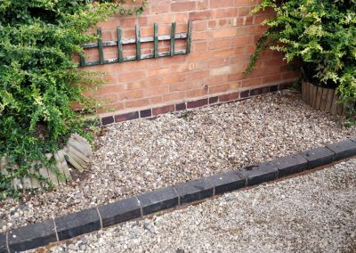 gravel with block paving